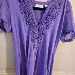 NY & Co Top. Sz XS. Purple